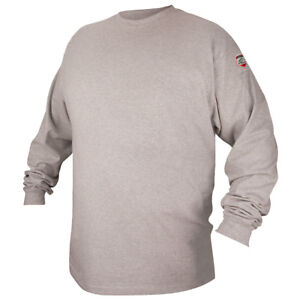 Black Stallion Ftl6 gry Gray Fr Cotton Long sleeve T shirt Large