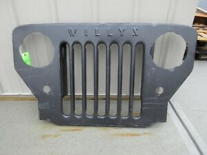 Grille Fits 1952 1968 Willys Jeep Cj3b With Script Md Juan
