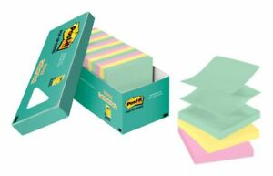 Post it Pop up Notes 3 X 3 Marseille Color Collection Pack Of 18 Pads