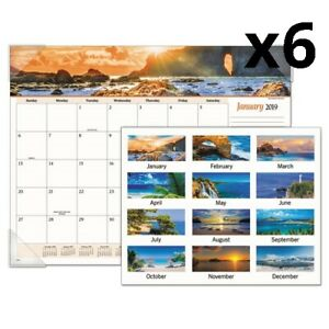 Seascape Panoramic Desk Pad 22 X 17 2020 Pack Of 6