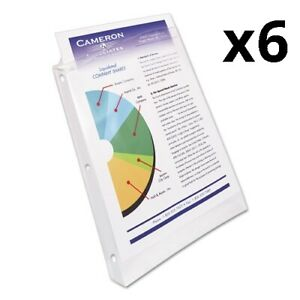 6 Top load Poly Sheet Protectors Heavy Gauge Letter Nonglare 100 box