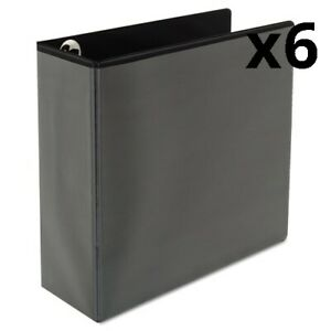 6 Deluxe Easy to open D ring View Binder 3 Rings 4 Capacity 11 X 8 5