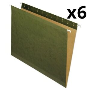 Reinforced Hanging File Folders Letter Size Straight Tab Standard Green