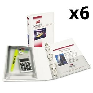 6 Mini Protect Store View Binder W round Rings 8 1 2 X 5 1 2 1 Cap White