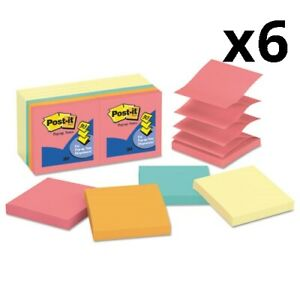 6 Original Pop up Notes Value Pack 3 X 3 Canary Yellow cape Town 100 sheet