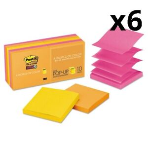 6 Pack Of Pop up 3 X 3 Note Refill Rio De Janeiro 90 Notes pad 10 Pads pack