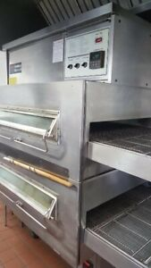 Middleby Marshall Ps 360q s Double Stack Natural Gas Conveyor Pizza Ovens
