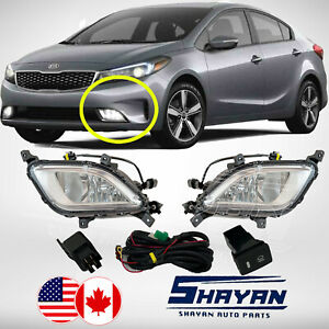 For 2017 2018 Kia Forte Fog Lights Lamp X2 Pieces Pair Accessories