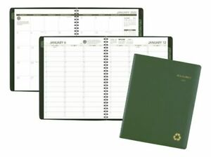 At a glance Deep Green Weekly monthly Planner 8 25x11 Green Jan dec 2020