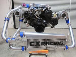 T04e Twin Turbo Intercooler Kit For 79 93 Ford Foxbody Mustang 5 0l Dual 700 Hp
