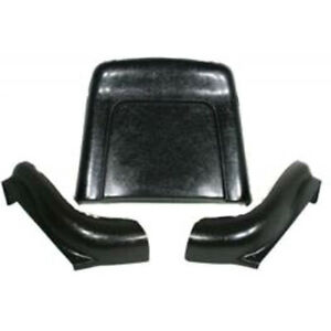 Chevelle Bucket Seat Back Lower Side Shells Black With Preassembled Trim