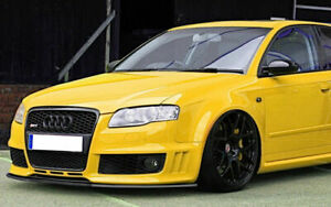Front Rs4 Bumper Abs Valance Chin Spoiler Lip For Audi Rs4 B7