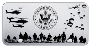 Us Army Laser Etched Brushed Stainless Steel License Plate Official Licensed