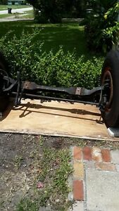 1950 Ford F 7 Truck Axle Front Axle Incudes Steering Linkage Wheels Tires