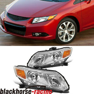 For 2012 2015 Honda Civic 4dr Sedan Headlights Headlamps Replacement Left Right