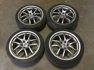2005 Infiniti Coupe G35 Oem Set Of 19 Forged Ray Racing Wheels