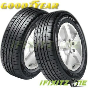 2 Goodyear Assurance All season A s 195 65r15 91t M s Touring Performance Tires