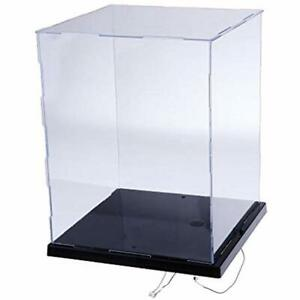 Clear Acrylic Display Case Countertop Box Cube Organizer Stand Dustproof For Cm