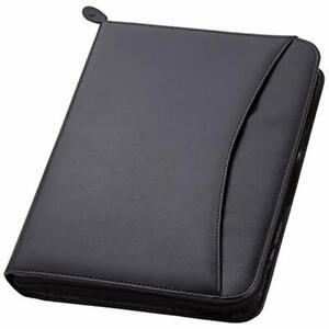 3 ring Zipper Portfolio Simulated Leather 1 25 Binder Exterior Pocket Guesseted