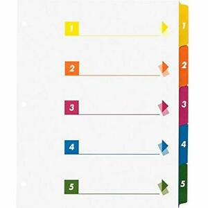 Index Divider White 21908 Binder Dividers Office Products