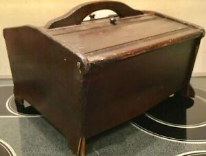 Antique Wooden Sewing Box With Much History Depression Era Ww Ii Era Offering