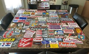 Vintage 100 Racing Sponsor Decals Stickers Drag Outlaw Nhra Owners Collection