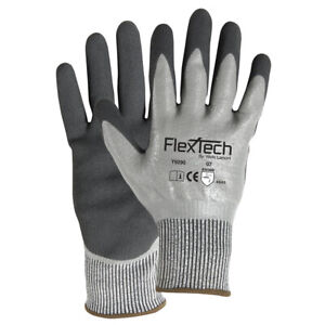 Wells Lamont Flextech Y9290 Hppe Gloves W Nbr sandy Nitrile Coating Cut 4