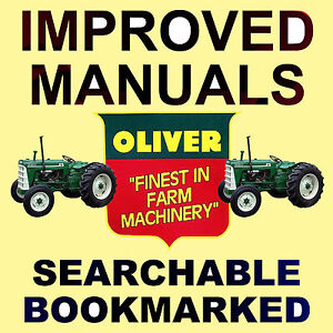 Oliver 550 Tractors Service Manual Shop Parts 6 Manuals Best searchable Dvd