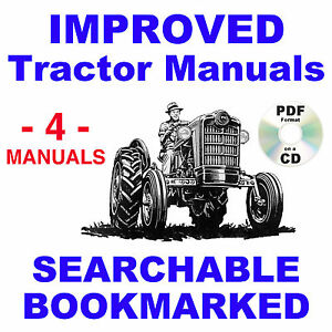 Ford 850 860 Tractor Service Parts Catalog Owners Manual 4 Manuals 1954 1957