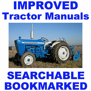 Ford 3000 Tractors Parts Service Owners Manual 6 Manuals Best Searchable Cd