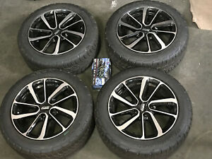 16 Mercedes Volkswagon Audi Wheels Rims And Tires Package Black Machine Face
