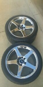 18 X 9 Chrome Mustang 03 04 Cobra Replica Wheels With 275 Nitto 555