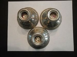 3 Crown Sterling Weighted Candle Holders