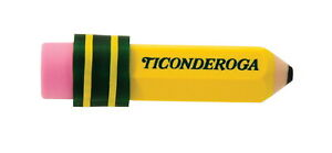 Ticonderoga Pencil Shaped Eraser Pack Of 36