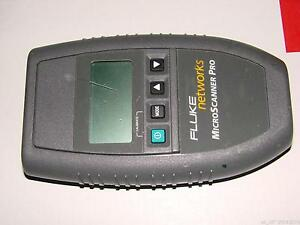 Fluke Networks Microscanner Pro 10 100 Cable Tester W o Wire Map Adp Accessories