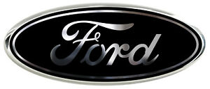 All Ford Models Black Chrome Logo Overlay Decals 3pc Kit Read The Description