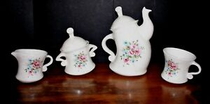 2013 Whimsical Tea Set Ceramic Teapot Pot Set Mayco Coffee Set