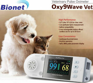 New Bionet Oxy9wave Vet Veterinary Pulse Oximeter 3 2 Lcd Color Display