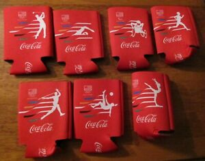 Coca-Cola Rio 2016 Olympics Koozie Can Cooler - Lot of 7