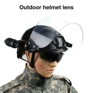 Tactical Transparent Windproof Lens Mask For Mich FAST Helmet Paintball Airsoft