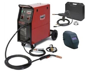 Century Lincoln K2783 1sh 255 Mig Welder With Adf Helmet And Spool Gun new