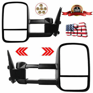 New Manual Extend Tow Mirrors Fit 99 04 05 06 07 Chevy Silverado 1500 2500 3500
