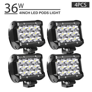4pcs 4inch 36w Led Work Light Bar Spot Offroad Driving 4wd Lamp Truck Ch19e