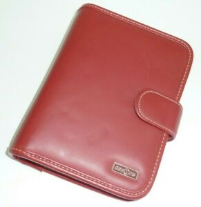 Franklin Covey Day One Classic Day Planner Red Simulated Vegan Leather Binder