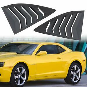 Matte Black Side Window Scoop Louvers Cover For 2010 2015 Chevy Chevrolet Camaro