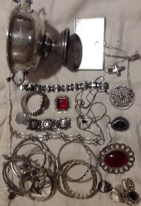 Huge Lot Of Sterling Silver For Wear Or Scrap 1pound 9 45 Oz Amazing L K