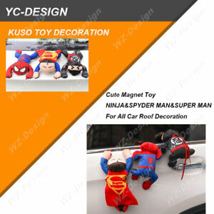 Cute Climbing Magnet Toy Ninja Spyder Man Super Man For All Car Roof Decoration
