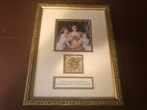 Vintage Wood Gilded Like Picture Frame Victorian Special For Mom Gold Heart