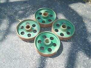 Cast Iron Wheels For Hit Miss Gas Engine Truck Cart Magneto Steam Oiler Nice