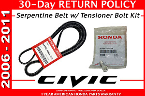 Genuine Oem Honda 2006 2011 Civic Dx Lx Ex Ex l Gx Vp Drive Belt Kit Serpentine